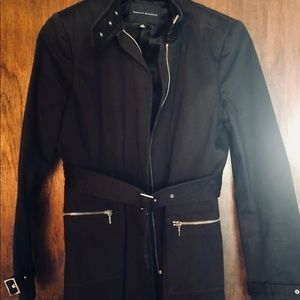 Black edgy trench style coat